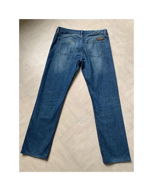 Burberry Jeans droit coton bleu homme