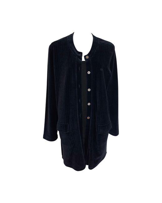 Veste coton noir Sonia Rykiel en coloris Black