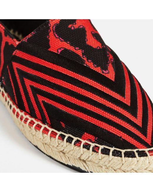 Espadrilles toile rouge Maje en coloris Red