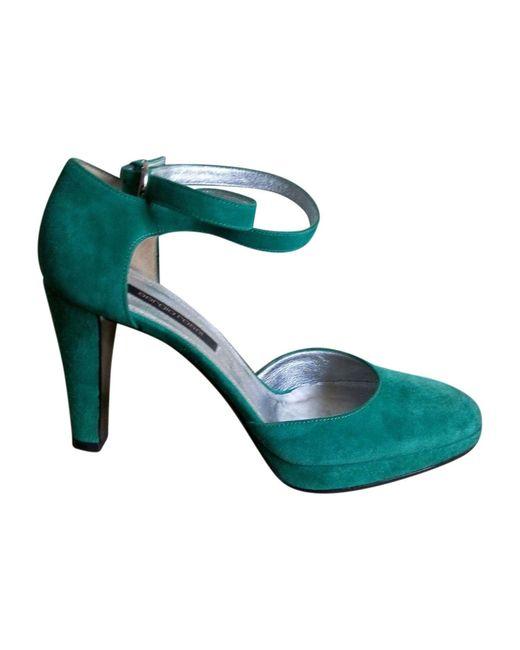 Escarpins daim vert Sergio Rossi en coloris Green