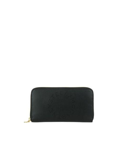 Portefeuille simili cuir noir Stella McCartney en coloris Black