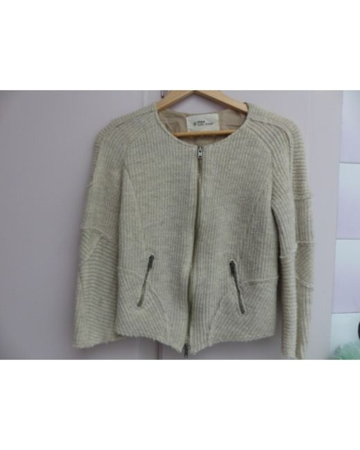 Gilet, cardigan laine beige Isabel Marant en coloris Natural