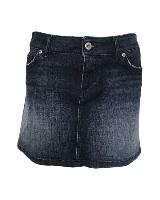 Dolce & Gabbana Jupe courte denim, jean bleu femme Fo6vp