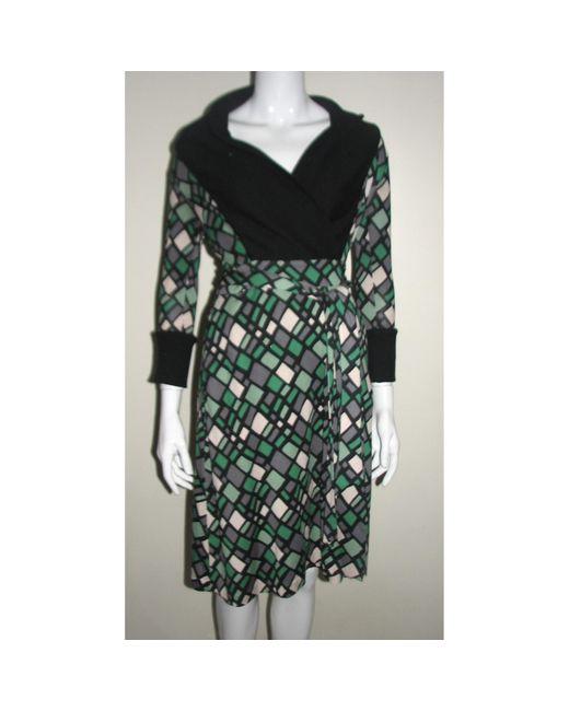 Robe mi-longue soie multicolore Diane von Furstenberg