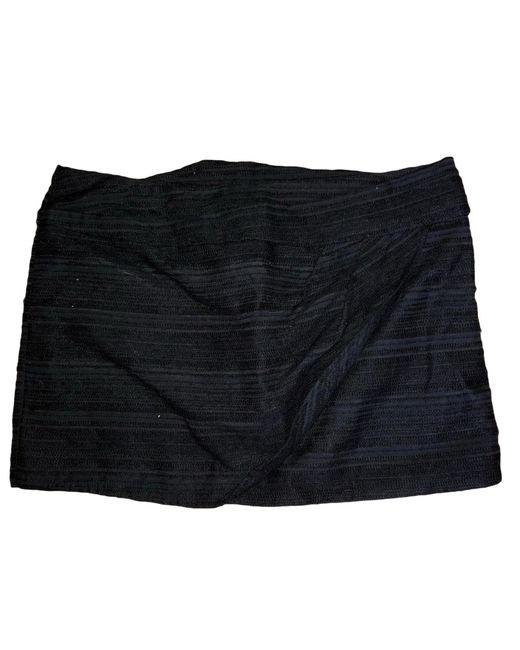 Jupe courte laine noir IRO en coloris Black