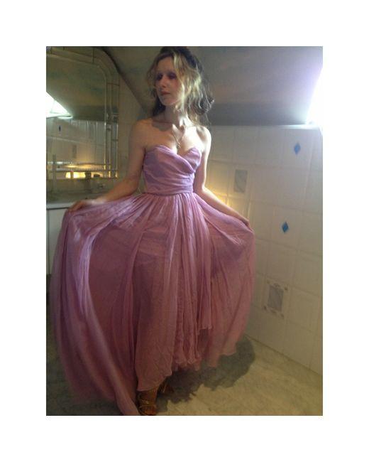 Robe de mariée soie rose Nina Ricci en coloris Pink
