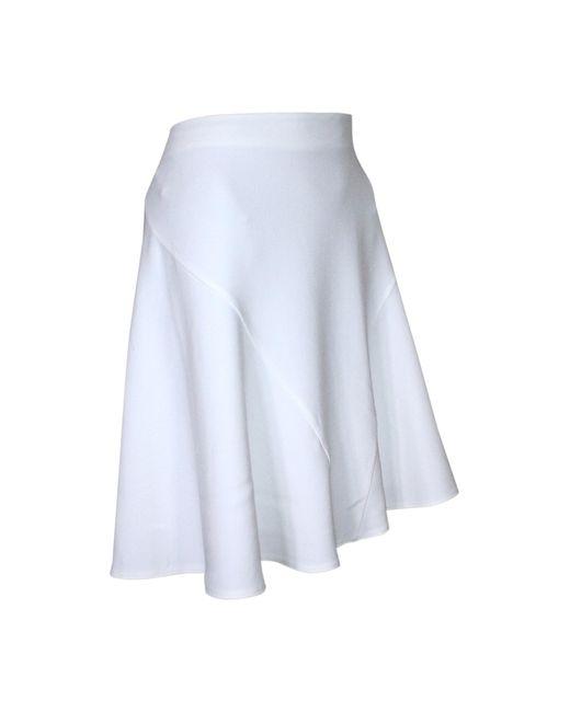 Stella McCartney Jupe courte viscose blanc femme 5w5WK