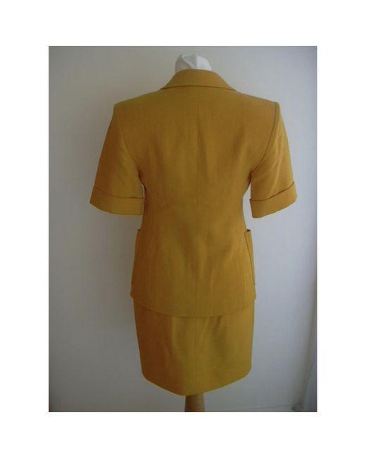 Tailleur jupe viscose jaune Christian Lacroix en coloris Green