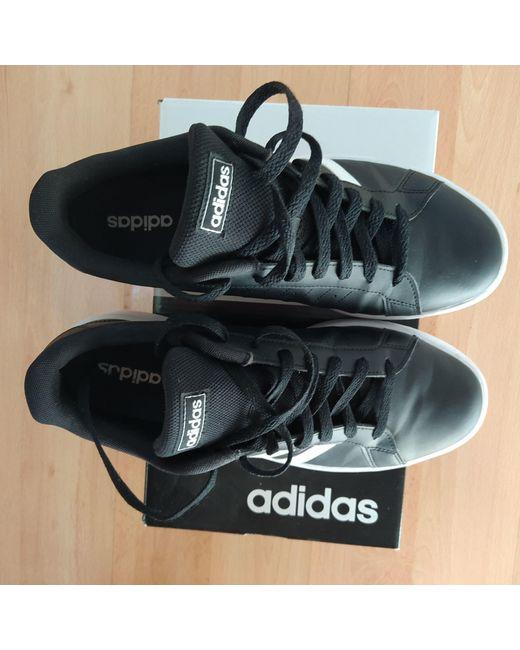 Baskets cuir noir Adidas pour homme en coloris Black