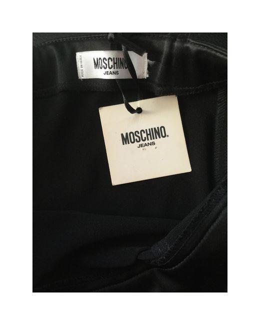 Robe bustier polyamide noir Moschino en coloris Black