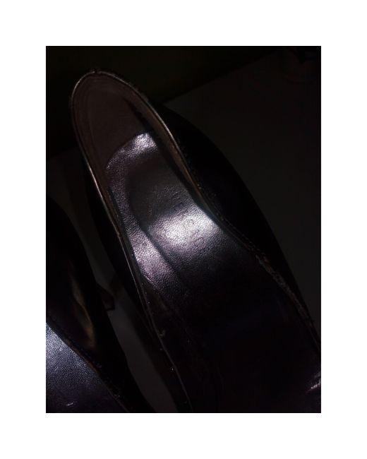 Escarpins cuir argent Versace en coloris Metallic