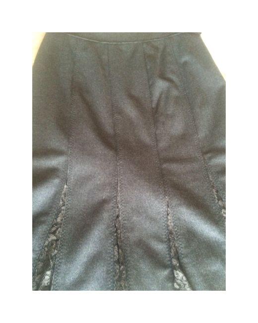 Jupe mi-longue laine mélangée gris Gerard Darel en coloris Gray
