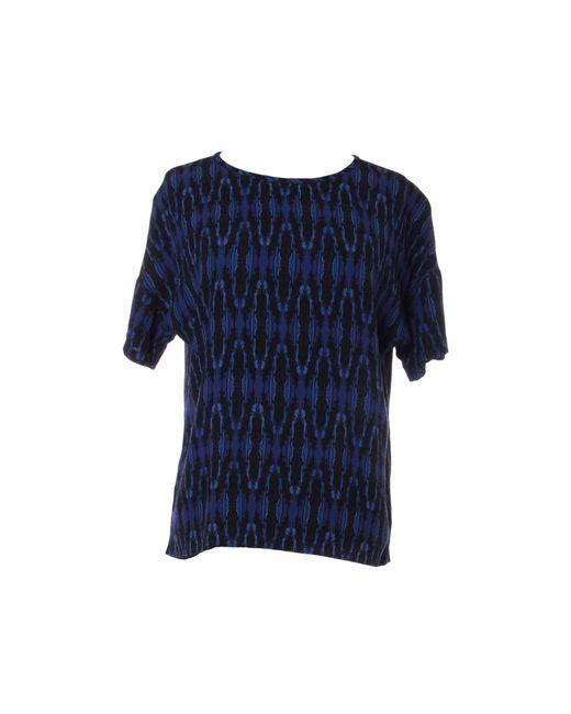 Top, tee-shirt pas d'étiq. de composition multicolore Maje en coloris Blue