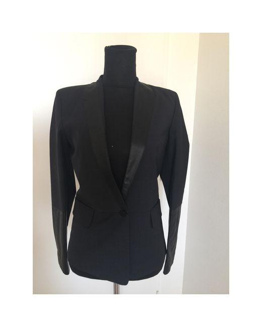 Blazer, veste tailleur laine mélangée noir Maje en coloris Black