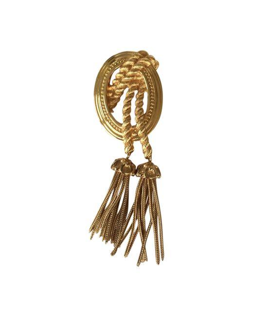 Broche métal doré autre Dior en coloris Multicolor