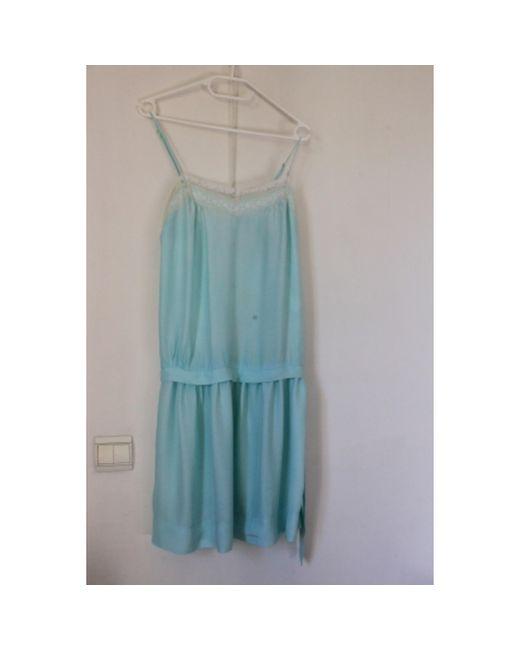 Robe courte soie autre Sandro en coloris Blue