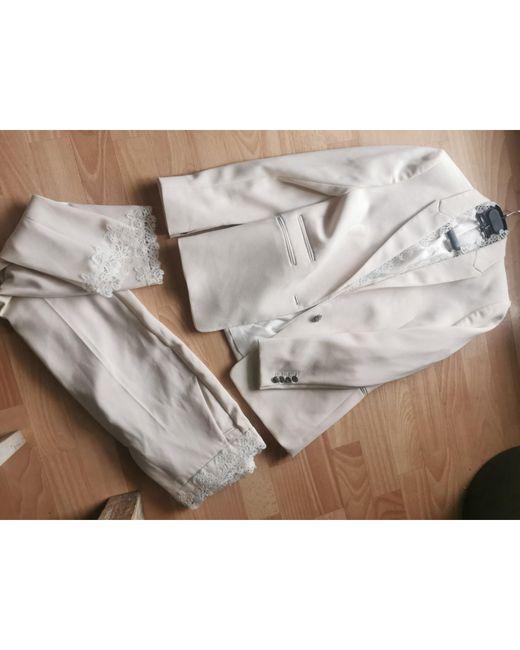 Tailleur pantalon polyester blanc The Kooples en coloris White