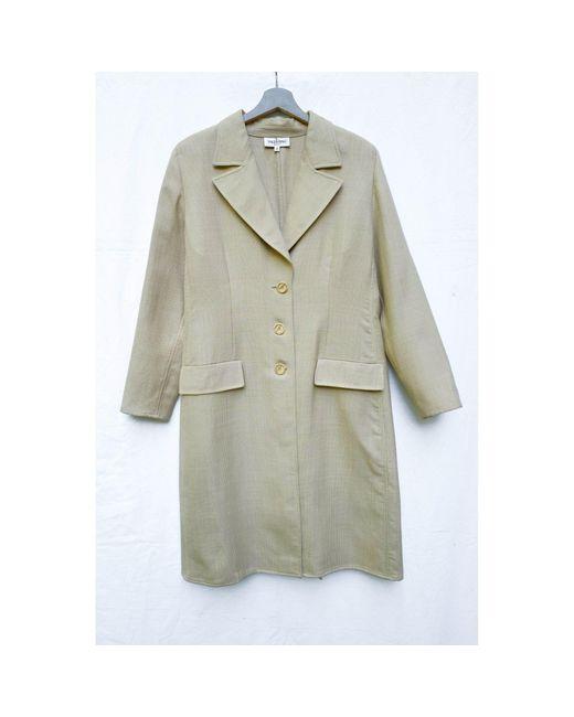 Manteau laine beige Valentino en coloris Natural