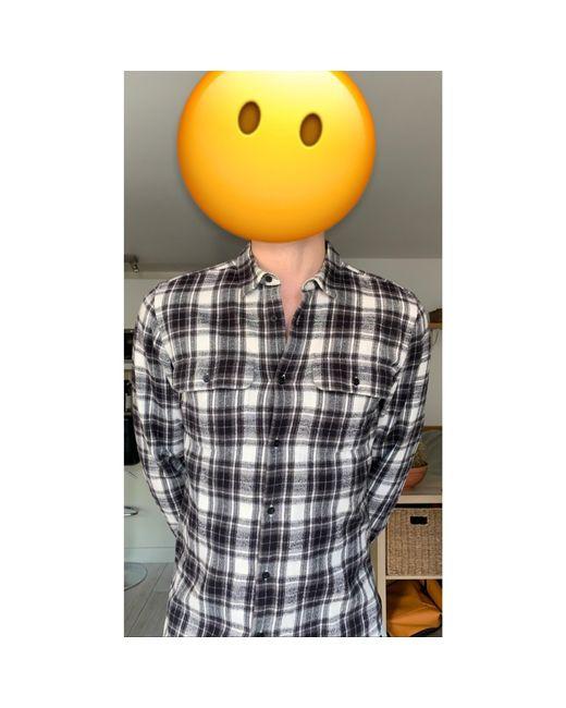 Chemise laine noir Sandro pour homme en coloris Black