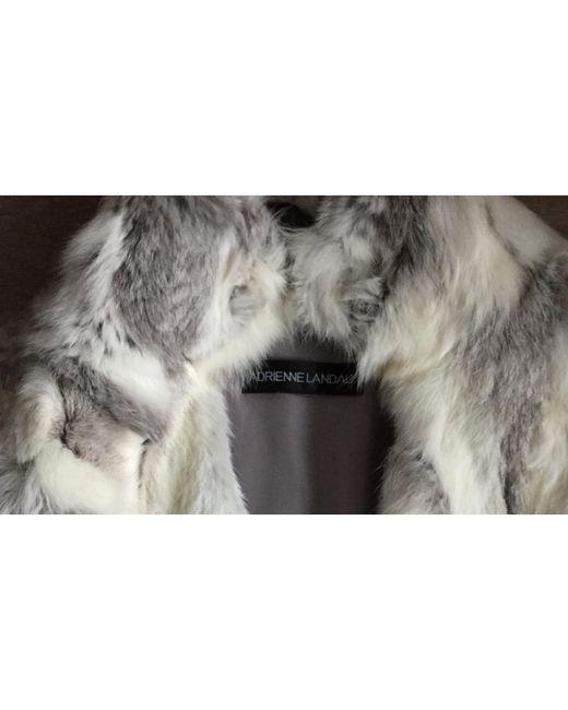 Blouson, veste en fourrure fourrure gris Adrienne Landau en coloris Gray