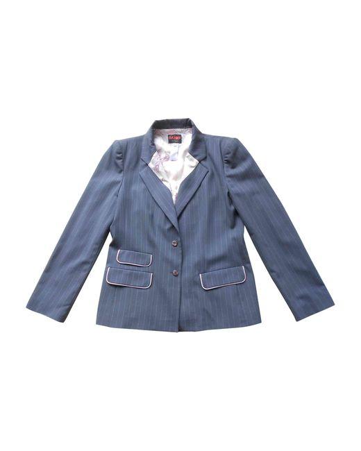 Veste laine gris Christian Lacroix en coloris Gray
