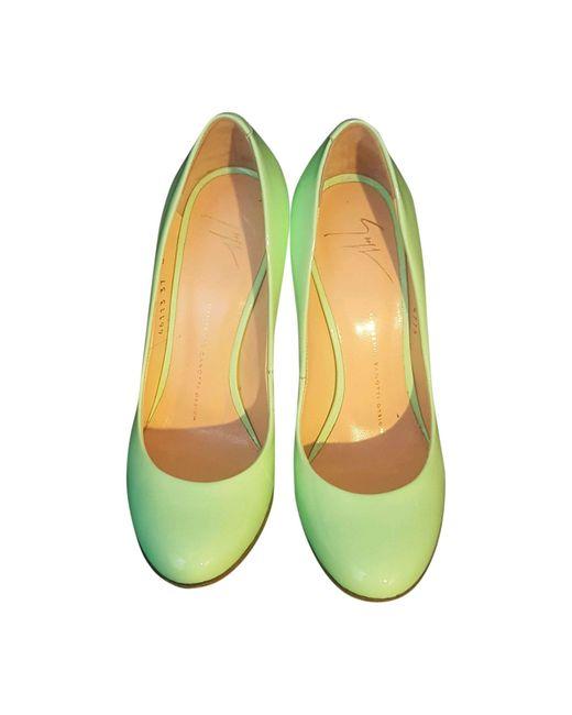 Escarpins cuir verni autre Giuseppe Zanotti en coloris Green