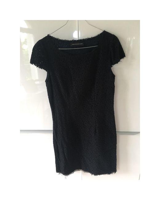 Robe mi-longue coton noir Zadig & Voltaire en coloris Black