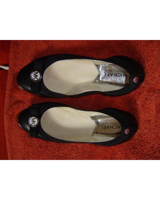 Ballerines cuir noir Michael Kors en coloris Black