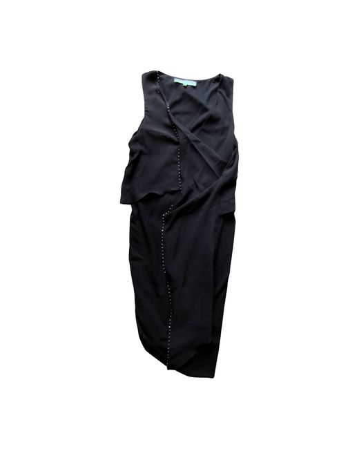Robe mi-longue laine mélangée noir Vanessa Bruno en coloris Black