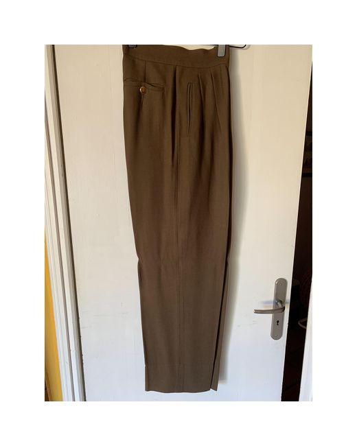 Tailleur pantalon viscose marron Max Mara en coloris Brown