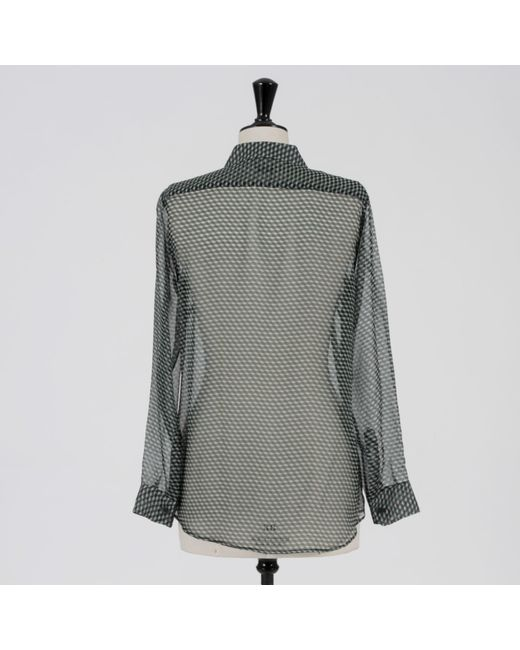 Blouse soie multicolore Dries Van Noten en coloris Gray