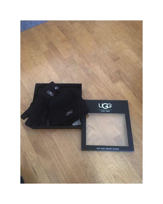 Bonnet laine noir Ugg pour homme en coloris Black