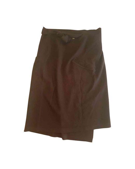 Sonia Rykiel Jupe mi-longue laine marron femme l6n8H