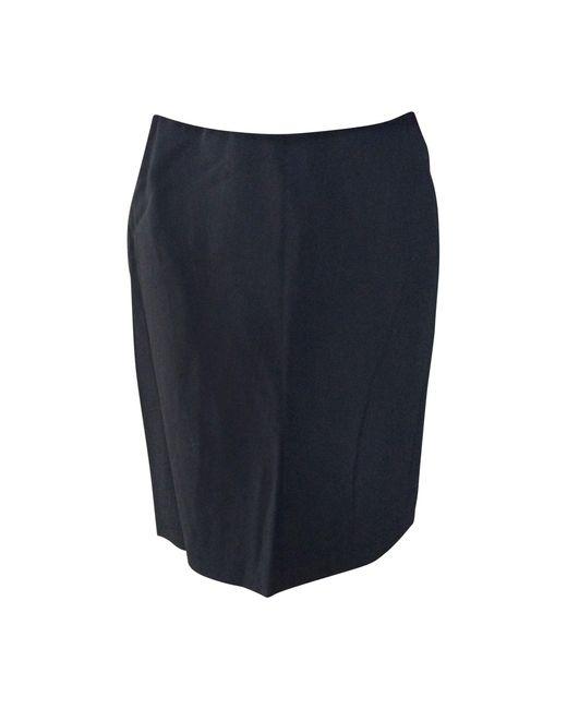 Jean Paul Gaultier Jupe mi-longue laine bleu femme akCQf