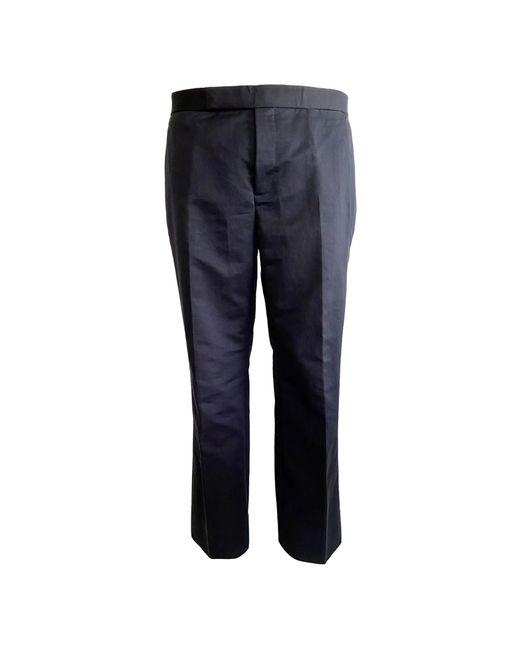 Pantalon droit coton bleu Marni pour homme en coloris Blue