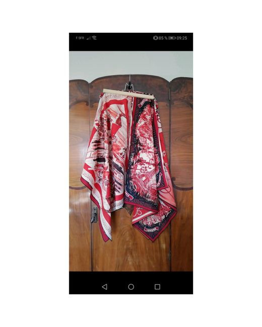 Jupe mi-longue coton multicolore Jean Paul Gaultier en coloris Red