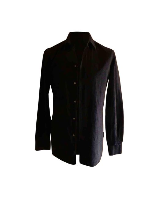 Chemise coton noir Louis Vuitton pour homme en coloris Black