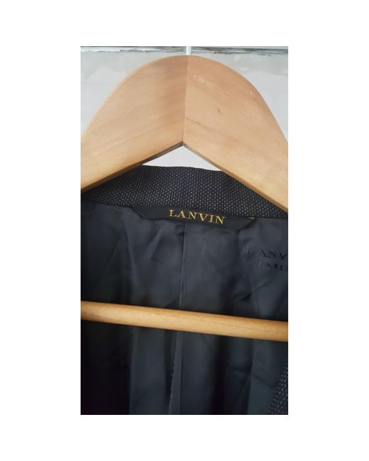 Veste de costume laine gris Lanvin pour homme en coloris Gray