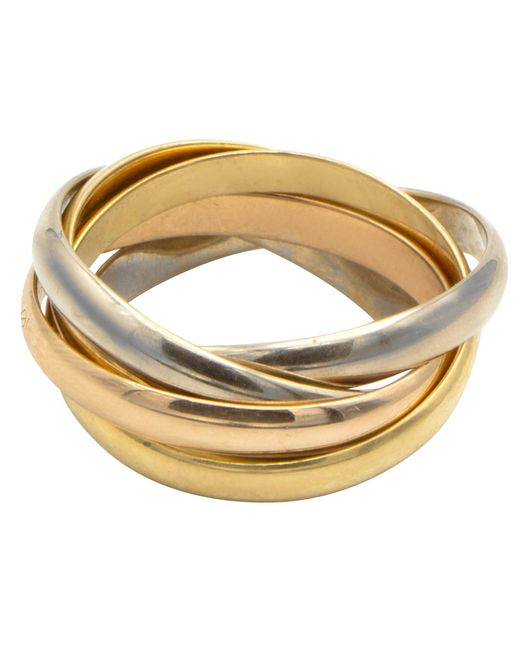Bague or jaune Trinity doré Cartier en coloris Metallic