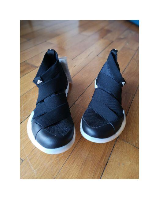 Baskets synthétique noir Adidas en coloris Black