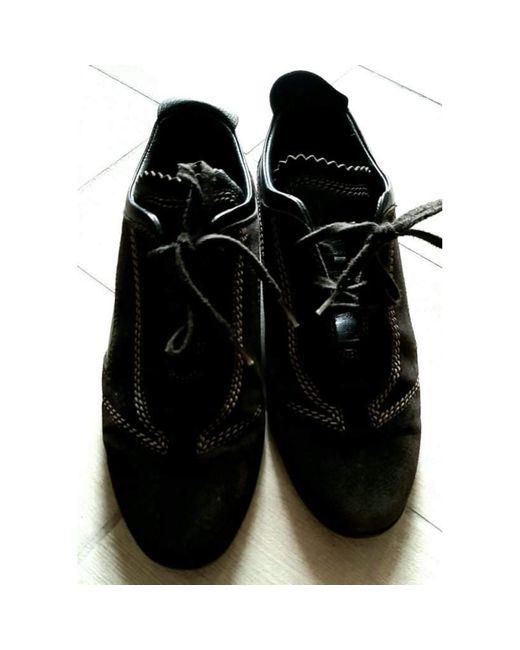 Chaussures à lacets daim marron Tod's en coloris Brown