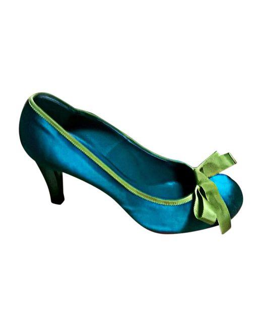 Escarpins babies satin vert Marc Jacobs en coloris Green