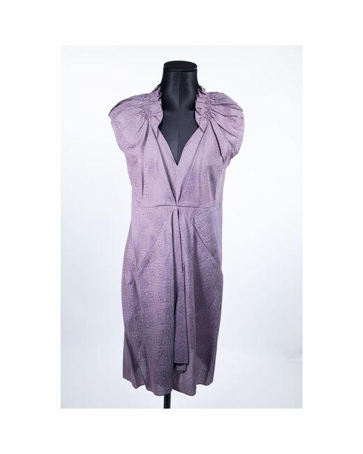 Robe mi-longue viscose violet Vanessa Bruno en coloris Purple
