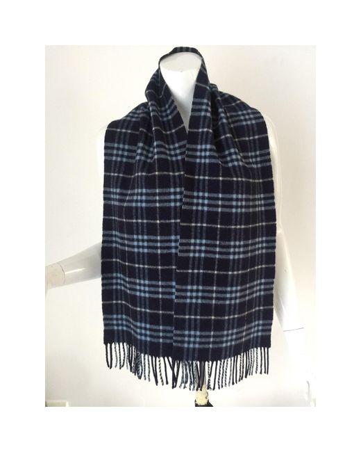 Echarpe laine bleu Burberry pour homme en coloris Blue