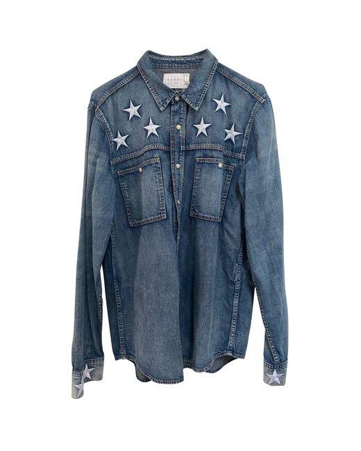 Chemise denim, jean bleu Sandro pour homme en coloris Blue