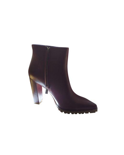 Bottines & low boots à talons cuir rouge Anine Bing en coloris Red