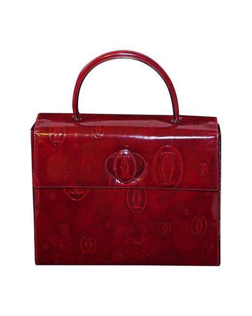coupon de réduction haut de gamme pas cher choisissez le dégagement Sac à main en cuir cuir verni rouge femme