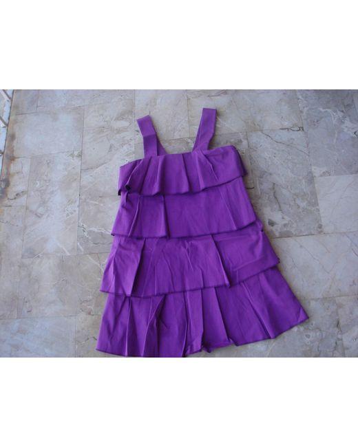 Robe courte coton violet Sonia Rykiel en coloris Purple