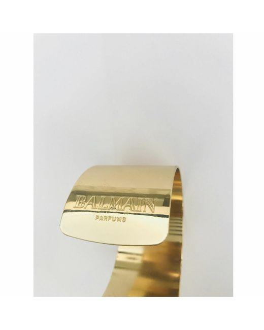 Bracelet acier doré Balmain en coloris Metallic