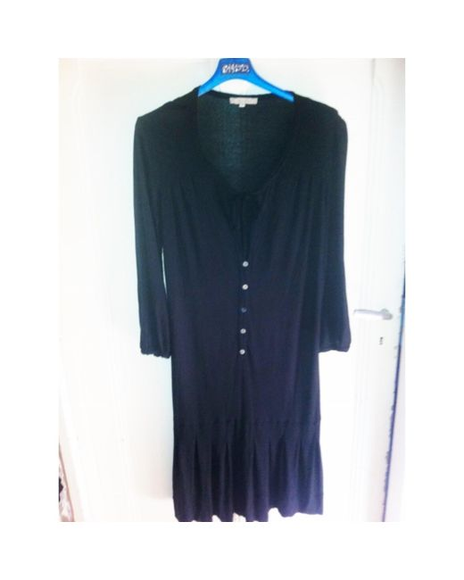 Robe courte acrylique noir Sandro en coloris Black